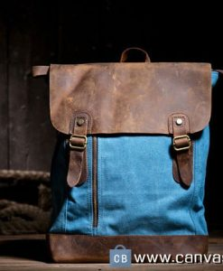 15-Blue-Canvas-backpacks-Student-laptop-canvas-bag-Leisure-Leather-and-Canvas-Backpack-School-Canvas-Bags-1