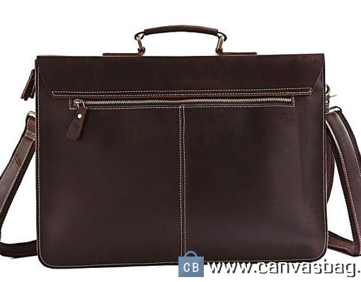 Men's Leather Briefcase Leather Messenger Bag - Canvas Bag Leather ...