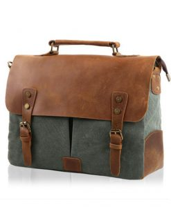 15-inch-Dark-Leather-Bag-Genuine-Leather-Canvas-Bag-Mens-Leather-Satchel-6