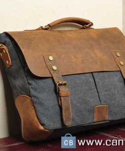 Canvas Messenger Bag Laptop Bags Computer Leather Canvasbag Co
