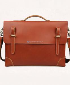 15 inch Leather Laptop Bag Leather Messenger Bag (1)