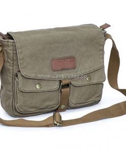 Army Style Canvas Messenger Shoulder Bag