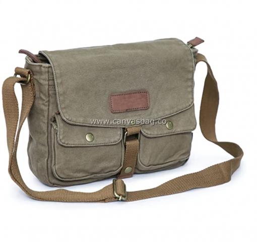 Army Style Canvas Messenger Shoulder Bag