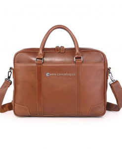 Briefcase Laptop Bag Leather Business Bag (1)