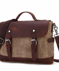 Brown Canvas Laptop Bag