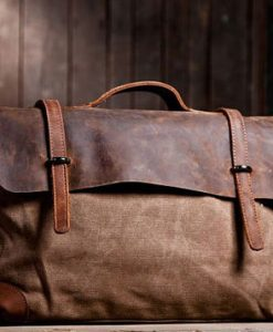 Brown-Canvas-Laptop-Bag-School-Messenger-Bag-1