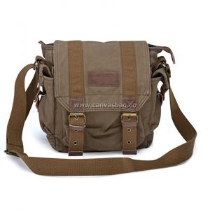 Brown Canvas Messenger Bag