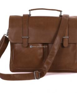 Brown Leather Computer Bag Leather Messenger Bag (1)