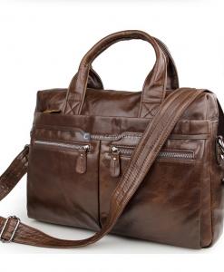Brown Leather MacBook Bag Leather Shoulder Bag (1)