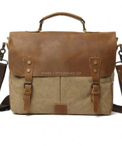 Canvas Laptop Messenger Bag