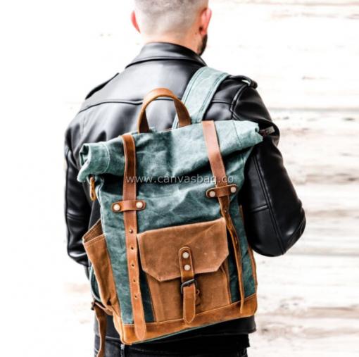 Canvas Rucksack Backpack