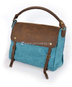 Genuine-Leather-Canvas-Bag-Shoulder-Bag-Handbag-1