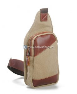 Genuine-Leather-Canvas-Chest-Pack-Sling-Bag-1