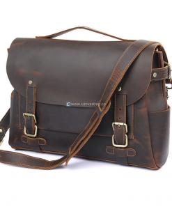 mens vintage leather messenger bag