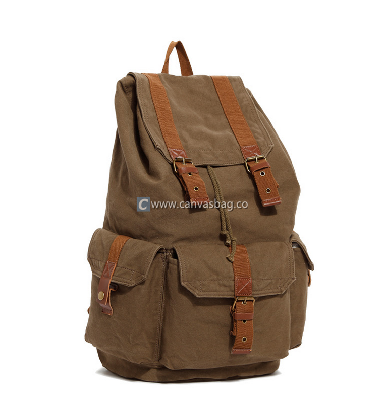 17 inch Laptop Backpack Large Canvas Backpack Book Bag - Canvas ...