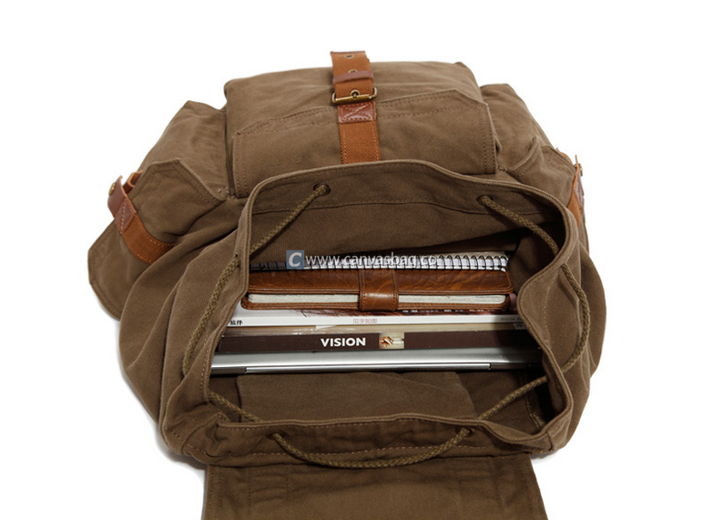 17 Inch Laptop Backpack Large Canvas Book Bag