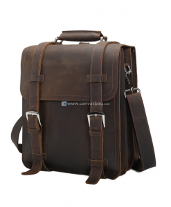 Large Leather Backpack Leather Bag for Men (1)
