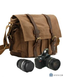 Military-Style-Leather-Deco-Canvas-Messenger-Shoulder-Bag-Camera-Bag-Coffee-3