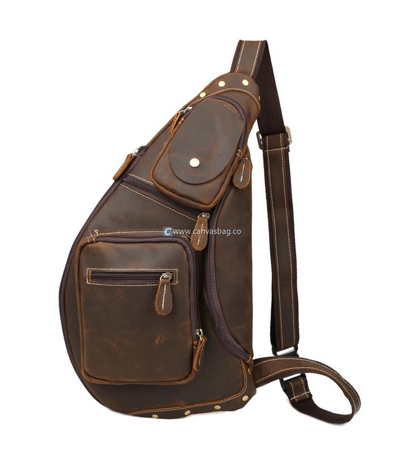 e40ebd72ea52 Sling Bags for Men Sling Backpack - Canvas Bag Leather Bag CanvasBag.Co