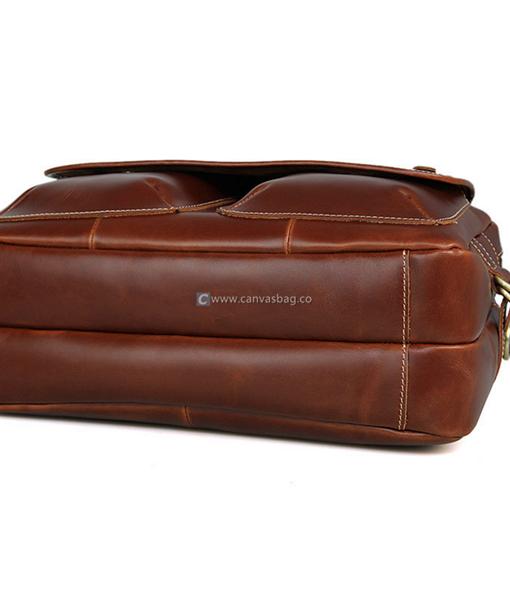 Vintage Leather Messenger Bag Mens Laptop Bag - Canvas Bag Leather ...