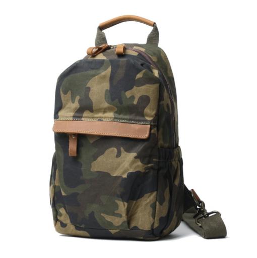 camo sling backpack