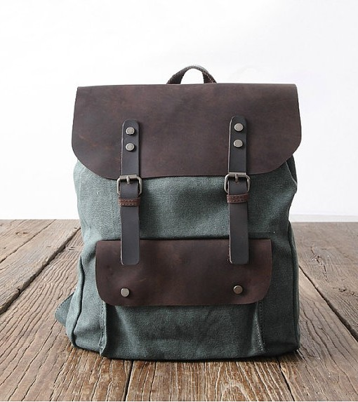 Backpack Canvas Book Bag School Travelling