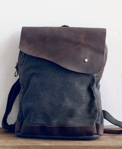 genuine-leather-canvas-backpack-4
