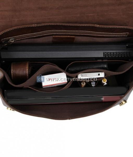 Leather Laptop Messenger Bag For Men - Canvas Bag Leather Bag ...