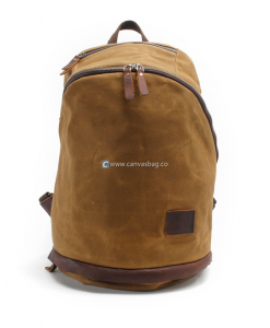Canvas Backpack Rucksack Canvas Book Bag (1)