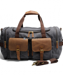 Canvas Luggage Bags Weekend Duffle Bag (1)