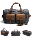 Canvas Luggage Bags Weekend Duffle Bag (7)