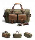 Canvas Luggage Bags Weekend Duffle Bag (9)