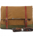 Green Canvas Messenger Bag (1)