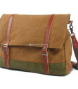 Green Canvas Messenger Bag (2)