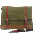 Green Canvas Messenger Bag (3)