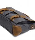 Laptop Messenger Bags Green Canvas Messenger Bag (14)