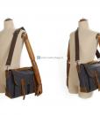 Laptop Messenger Bags Green Canvas Messenger Bag (3)