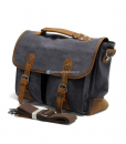 Laptop Messenger Bags Green Canvas Messenger Bag (9)