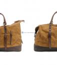 Waterproof Duffel Bag Waxed Canvas Luggage (15)