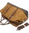 Waterproof Duffel Bag Waxed Canvas Luggage (4)