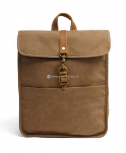 Waterproof Rucksack Waxed Rucksack Oiled Canvas Backpack (1)