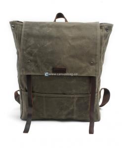 Waxed Backpack Waxed Canvas Laptop Bag (7)