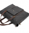Waxed Canvas Laptop Bag (4)