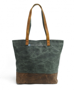 Waxed Canvas Tote Personalized Tote Bags (1)