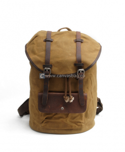 Waxed Cotton Backpack (1)