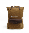 Waxed Cotton Backpack Waxed Canvas Rucksack (1)