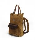 Waxed Cotton Backpack Waxed Canvas Rucksack (10)