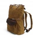 Waxed Cotton Backpack Waxed Canvas Rucksack (14)