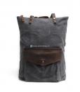 Waxed Cotton Backpack Waxed Canvas Rucksack (3)
