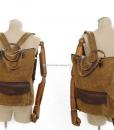 Waxed Cotton Backpack Waxed Canvas Rucksack (5)